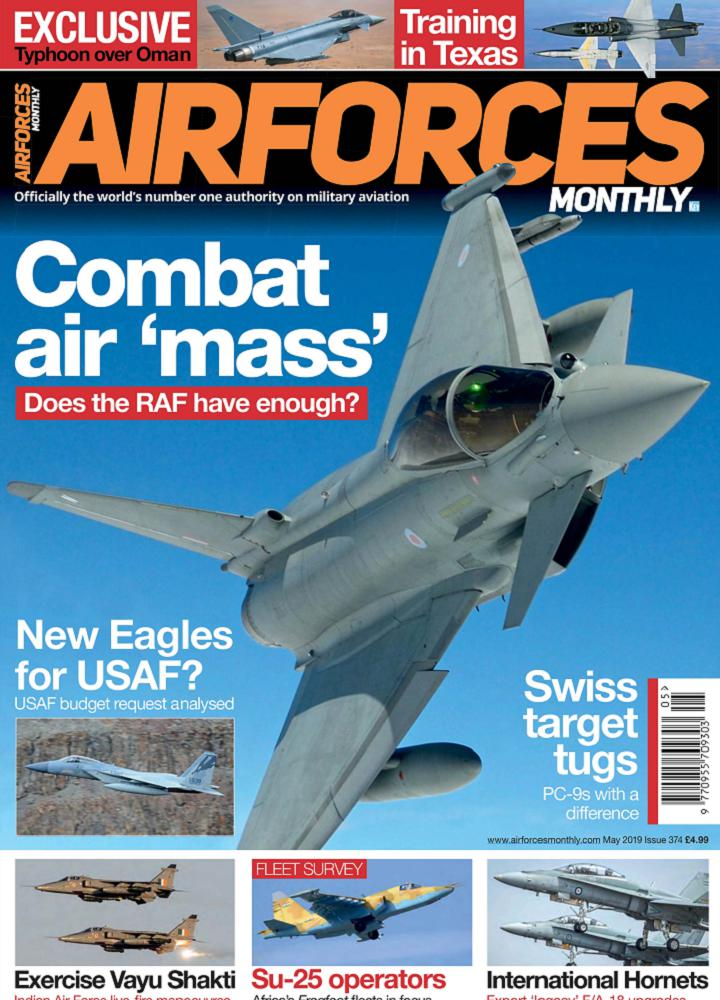 [英国版]Airforces Monthly 2019年05月 英国版 Airforces Monthly 月刊 第1张