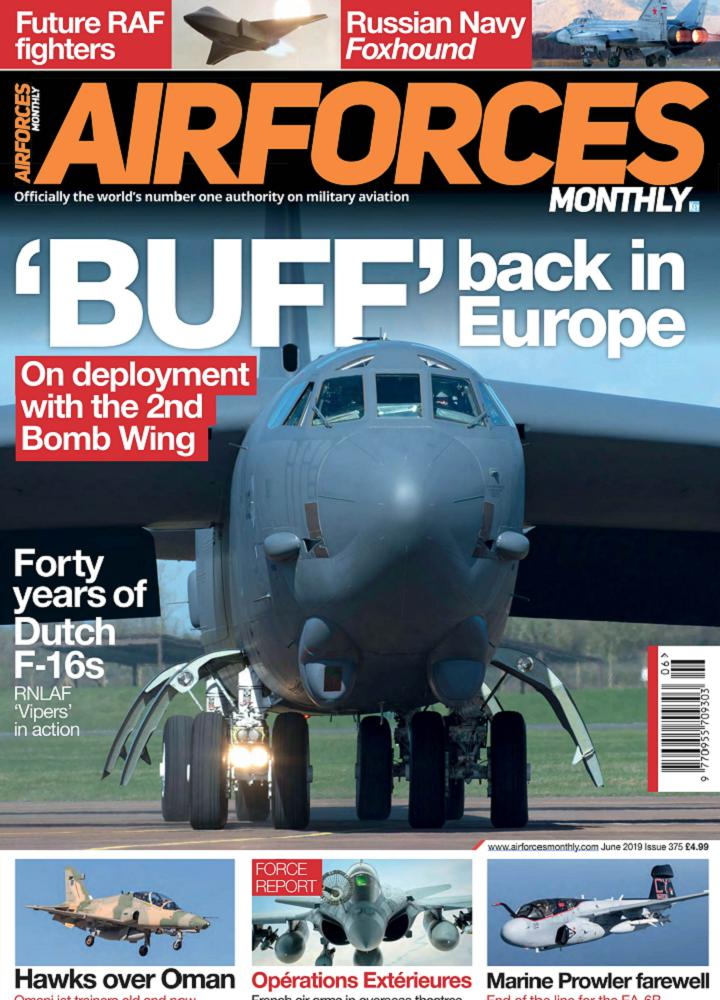 [英国版]Airforces Monthly 2019年06月 英国版 Airforces Monthly 月刊 第1张
