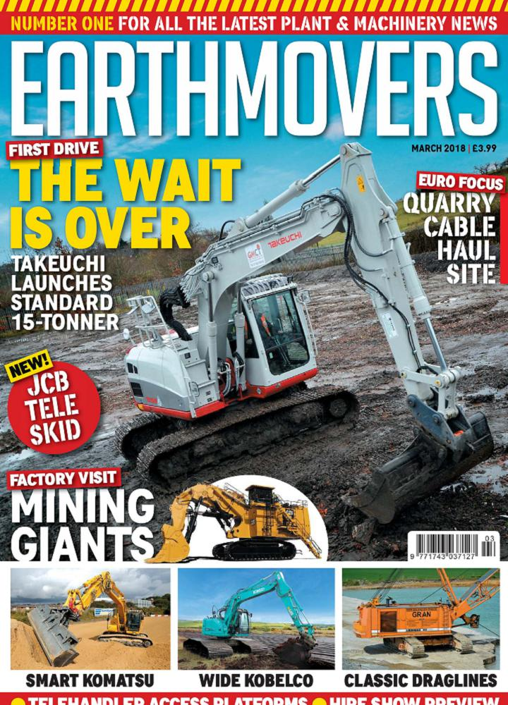 [英国版]Earthmovers 2018年03月 Earthmovers 英国版 月刊 第1张