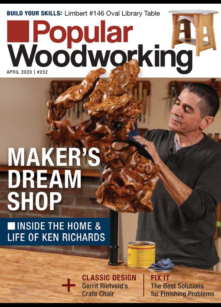 [美国版]流行的木工 Popular Woodworking 2020年04月 流行的木工 美国版 月刊 第1张
